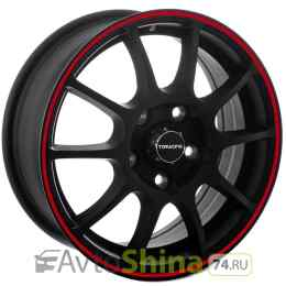 TG Racing TGR 001 6x15 5x105 ET 39 Dia 56,5 (MATT BLACK RED RING)