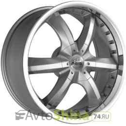 Antera 389 9,5x20 6x139,7 ET 12 Dia 106,1 (silver matt lip polished)